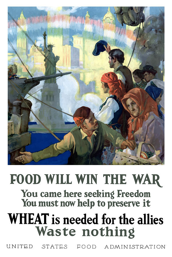 Immigrants Painting - Food Will Win The War by War Is Hell Store