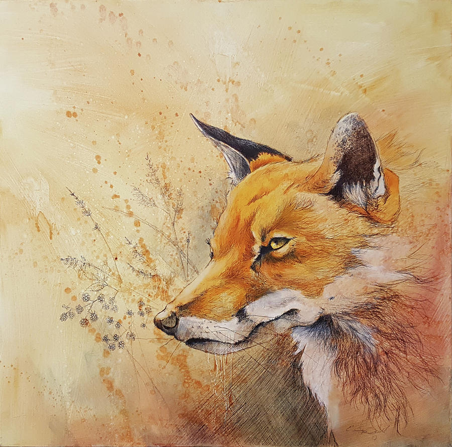 Red Fox Mixed Media - Foolish Fire by Eric Dull