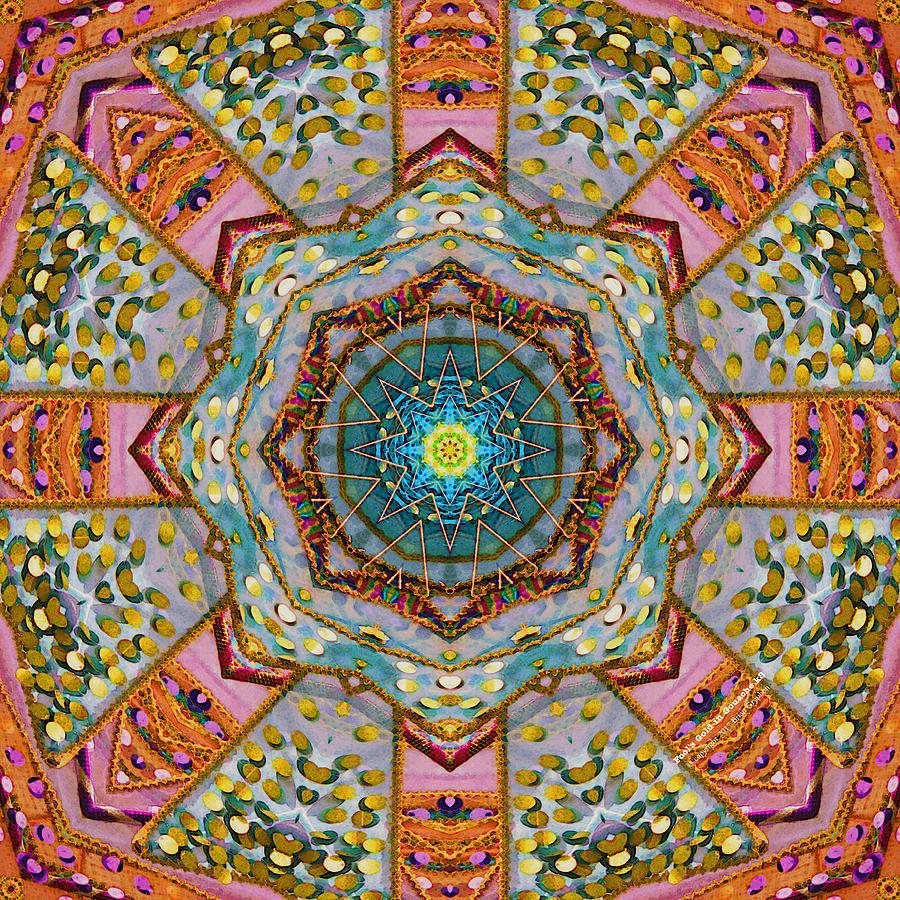 Kaleidoscope Digital Art - Fools Gold In Gouache by Brian Gryphon