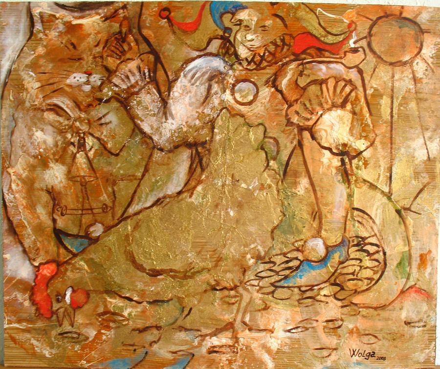 Fools Happiness.  Painting by Wolga Yaguzhinskaya