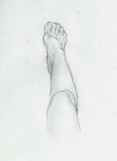 Foot Drawing - Foot by Angela Baggett