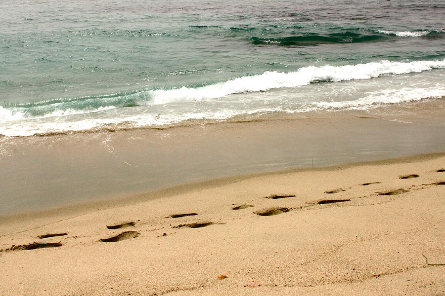 Beach Photograph - Foot Prints In The Sand.jpg by Rose Webber Hawke