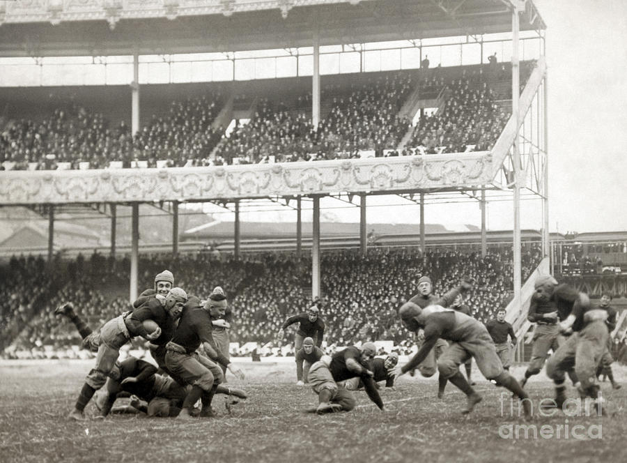 1916 Photograph - Football Game, 1916 by Granger