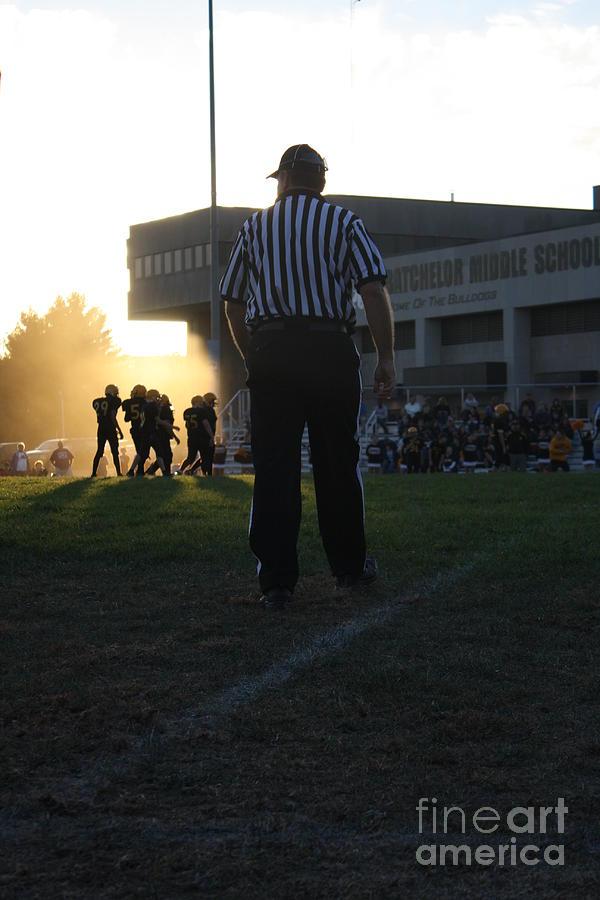 Sports Pyrography - Football Glow by Monica Smith