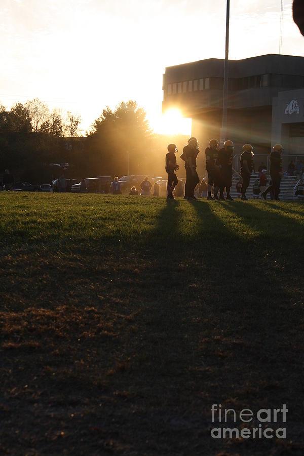 Sports Photograph - Football Haze by Monica Smith