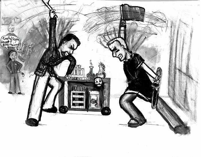Teachers Drawing - Football Hysteria by Katie Alfonsi