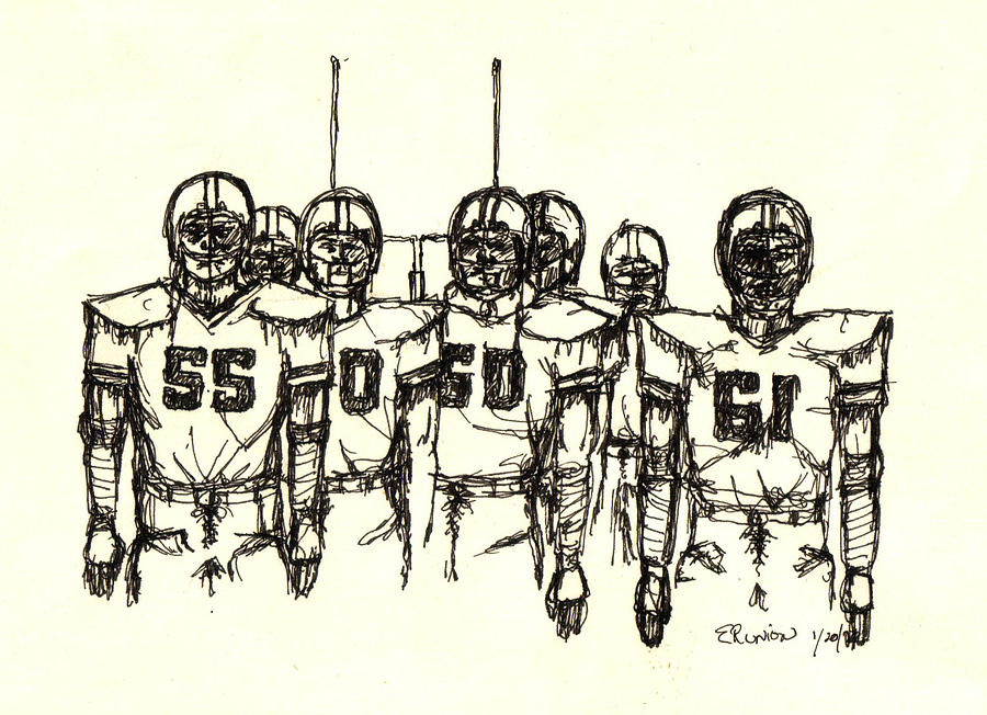 Football Mixed Media - Football Nasties by Brett H Runion