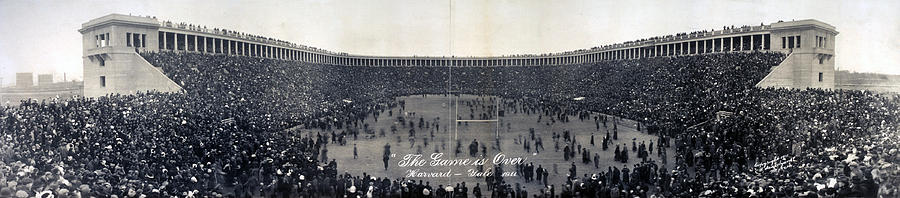 1910s Photograph - Football, The Game Is Over Panorama by Everett