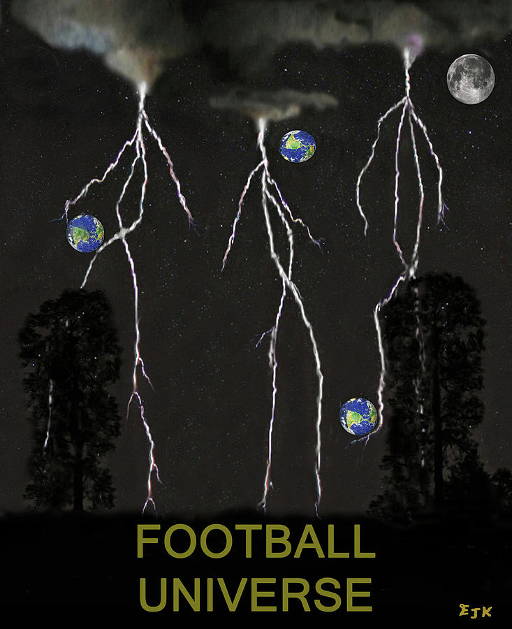 Football Universe Mixed Media - Football Universe by Eric Kempson