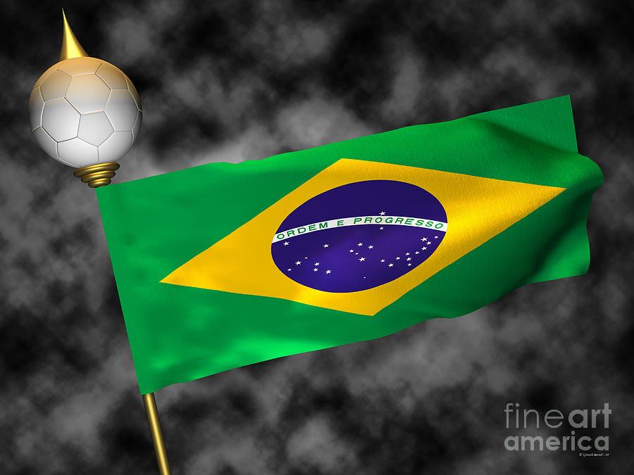 Fifa Photograph - Football World Cup Cheer Series - Brazil by Ganesh Barad