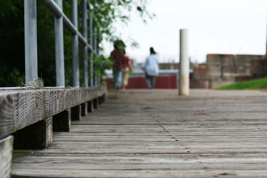 Weathered Photograph - Footbridge by David S Reynolds