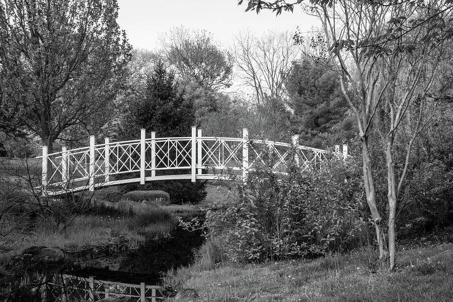 Footbridges Photograph - Footbridge In Black And White by Angie Tirado