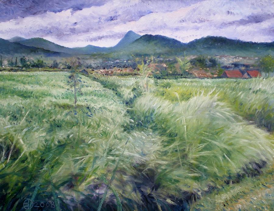 Landscapes Painting - Foothills Of Tangkuban Perahu Jawa Barat Java Indonesia 2008 by Enver Larney