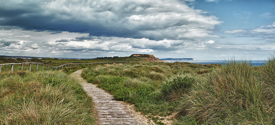 Footpath to Hengistbury Head by Adrian Brockwell