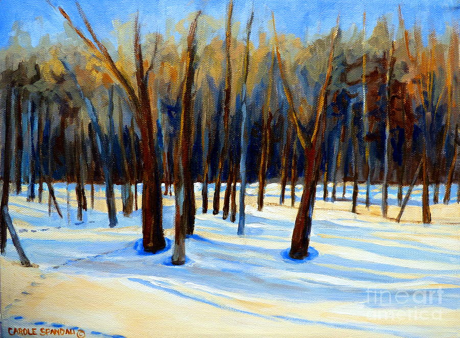 Winter Landscapes Painting - Footprints  by Carole Spandau