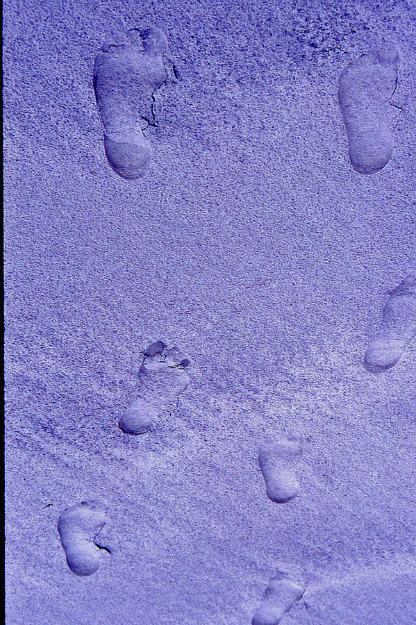 Sand Photograph - Footprints In Sand - 2 by Randy Muir