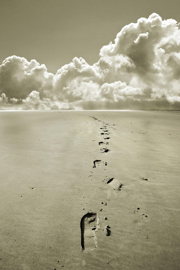 Footprints Photograph - Footprints In Sand by Mal Bray