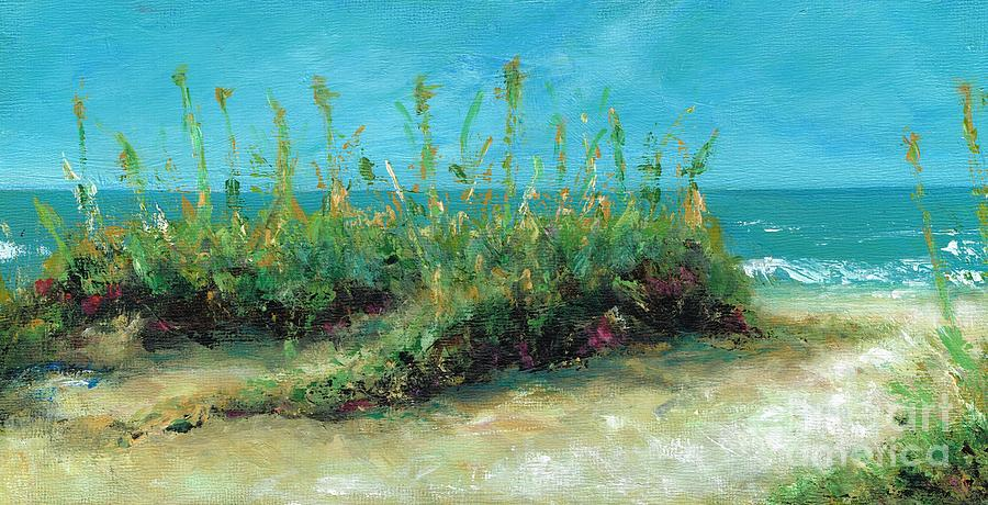 Beaches Painting - Footprints In The Sand by Frances Marino