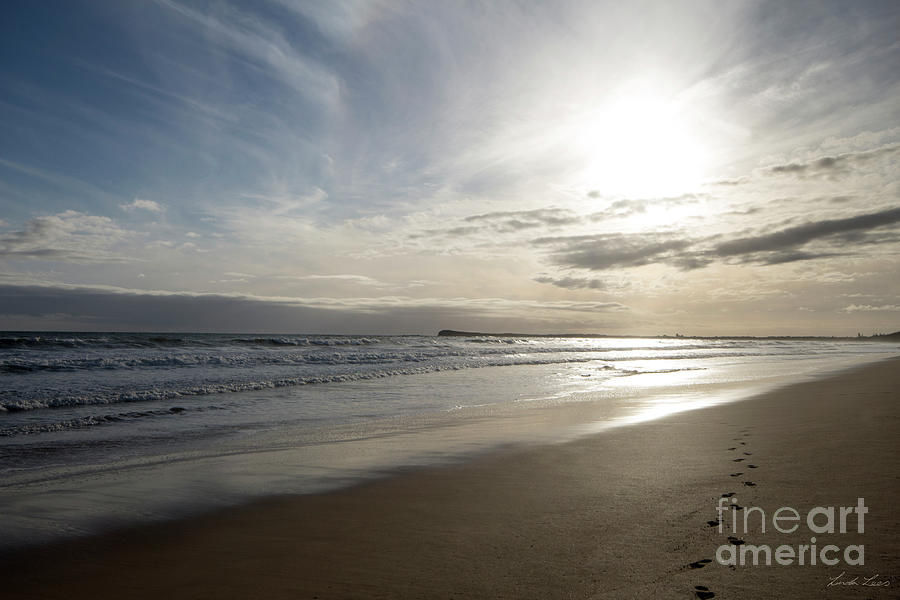 Beach Photograph - Footprints In The Sand by Linda Lees