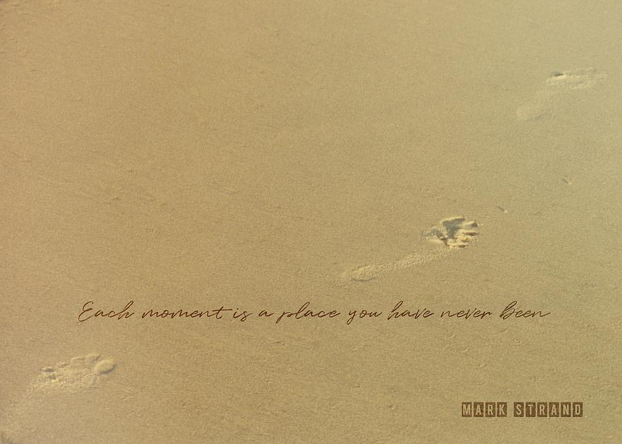 Footprint Photograph - Footprints Quote by JAMART Photography