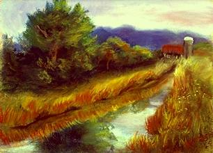 Landscape Painting - For A Thirsty Land by Gail Kirtz