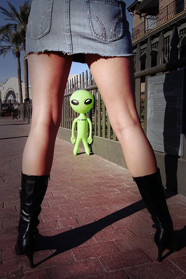 Alien Photograph - For Alien Eyes Only by Richard Henne