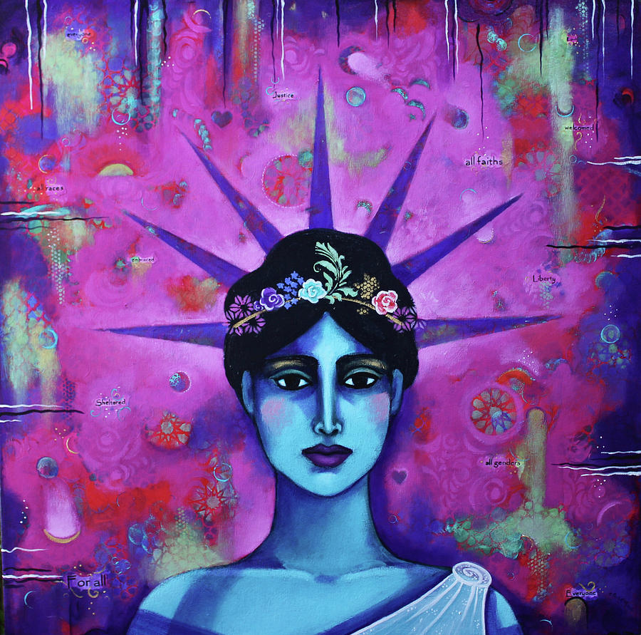 Liberty Painting - For All II by Carla Golembe