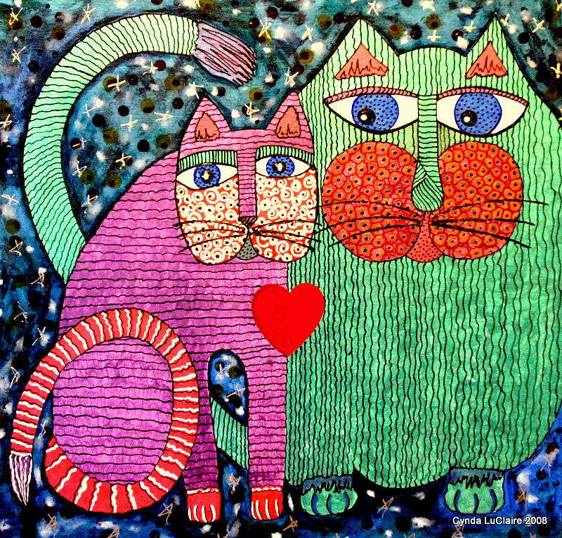 Cats Painting - For All The Cats I by Cynda LuClaire