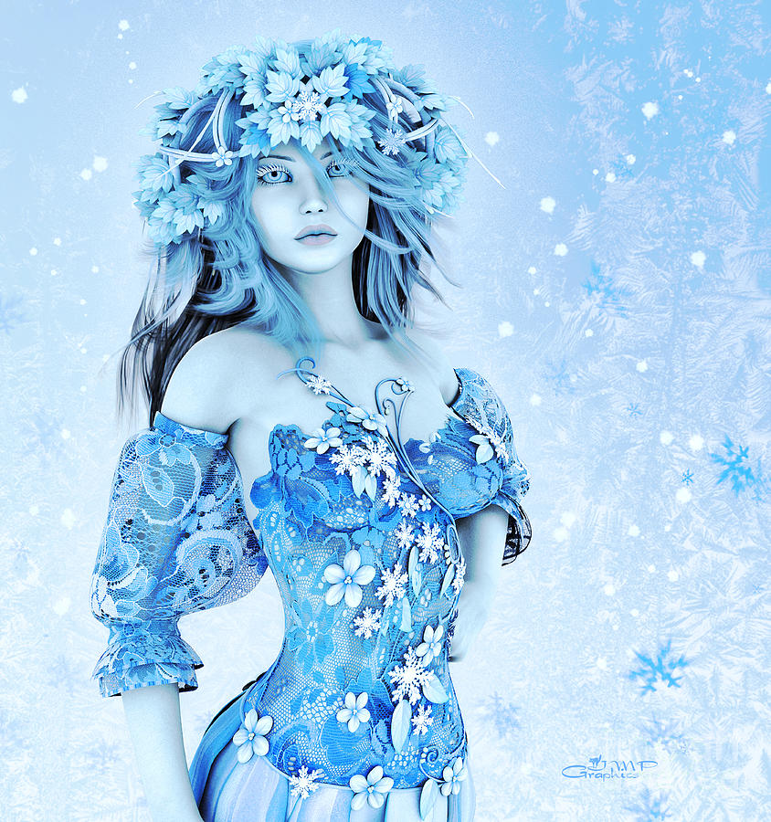 3d Digital Art - For All Winter Friends by Jutta Maria Pusl
