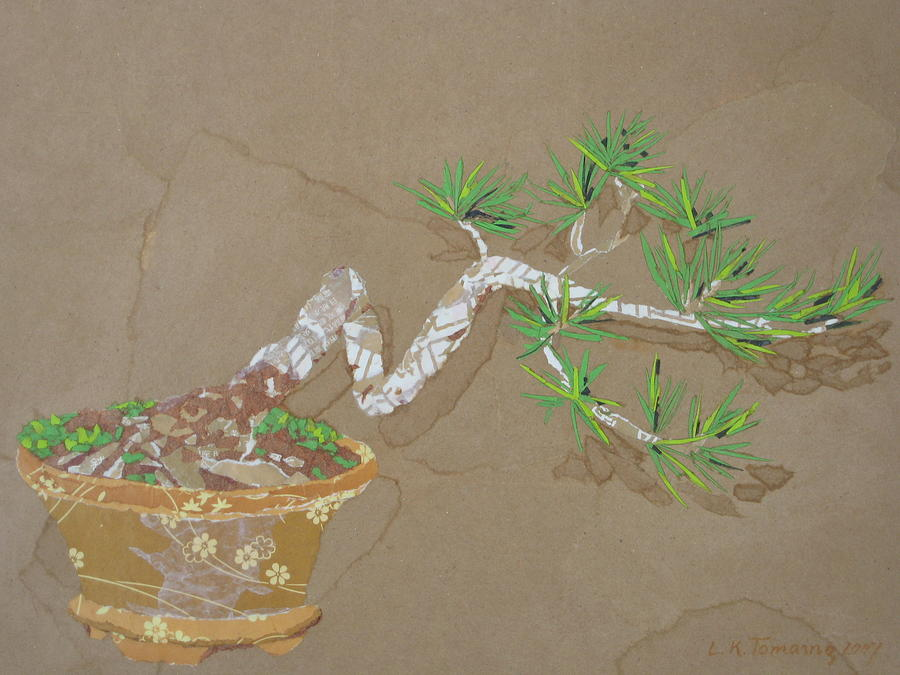Banzai Tree Painting - For Inge by Leah  Tomaino