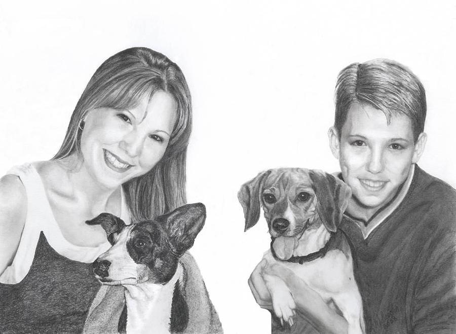 Portrait Drawing - For Joyce by Marlene Piccolin