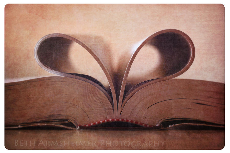 Book Photograph - For The Love Of Knowlage by Beth Armsheimer