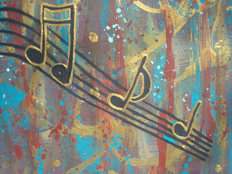 Music Notes Painting - For The Love Of Music by Gypsie Moe