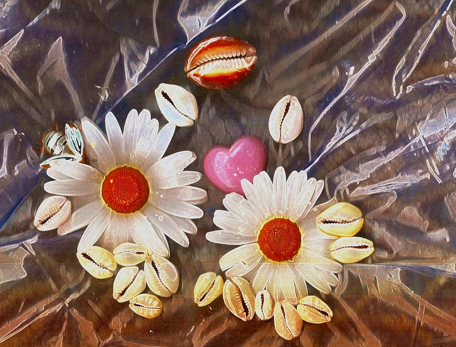 Shells Mixed Media - For The Love Of Summer And Life by Pepita Selles