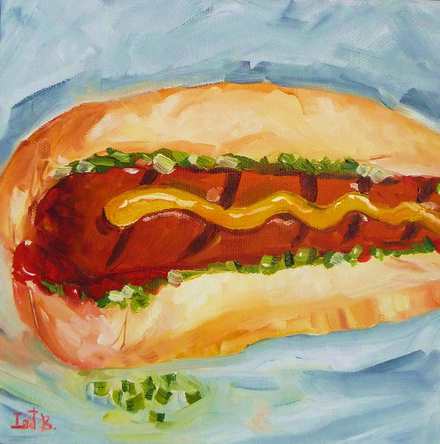 Food Painting - For The Love Of The Dog by Irit Bourla