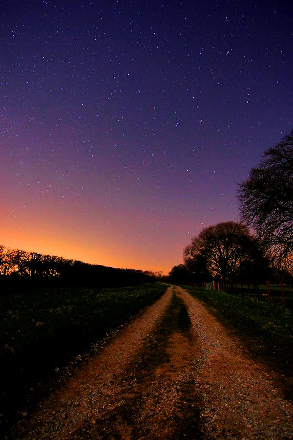 Night Sky Photograph - For the night is dark and full of terrors by Peggy Berger
