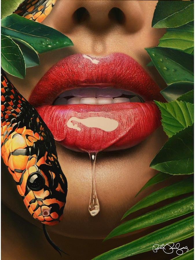 Forbidden Fruit Painting by Peter Perlegas