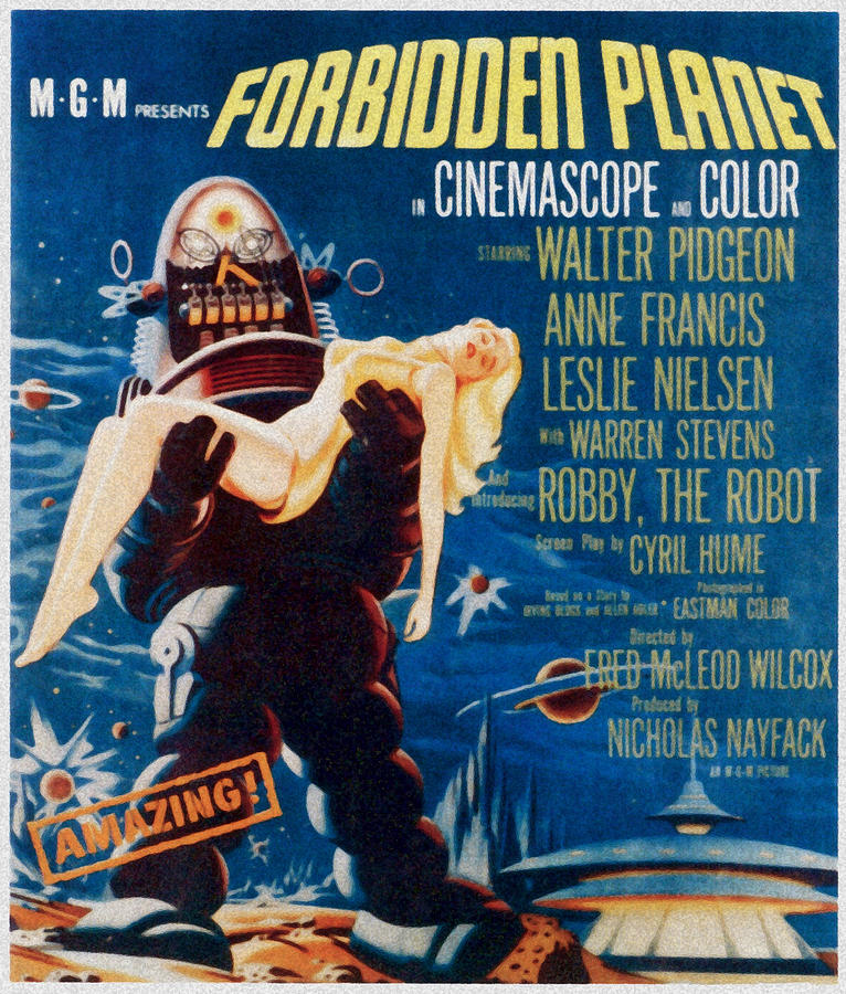Carrying Photograph - Forbidden Planet, Left Robby The Robot by Everett