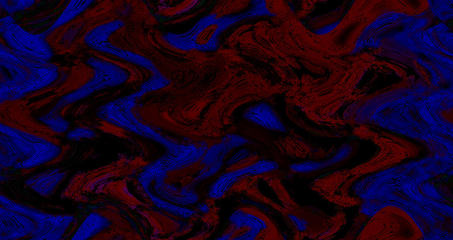Abstract Digital Art - Force Disturbance by Kab