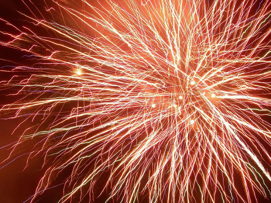 Fireworks Photograph - Force Field by Lorraine Baum