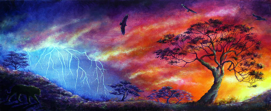 Lightening Painting - Force Of Nature by Ann Marie Bone