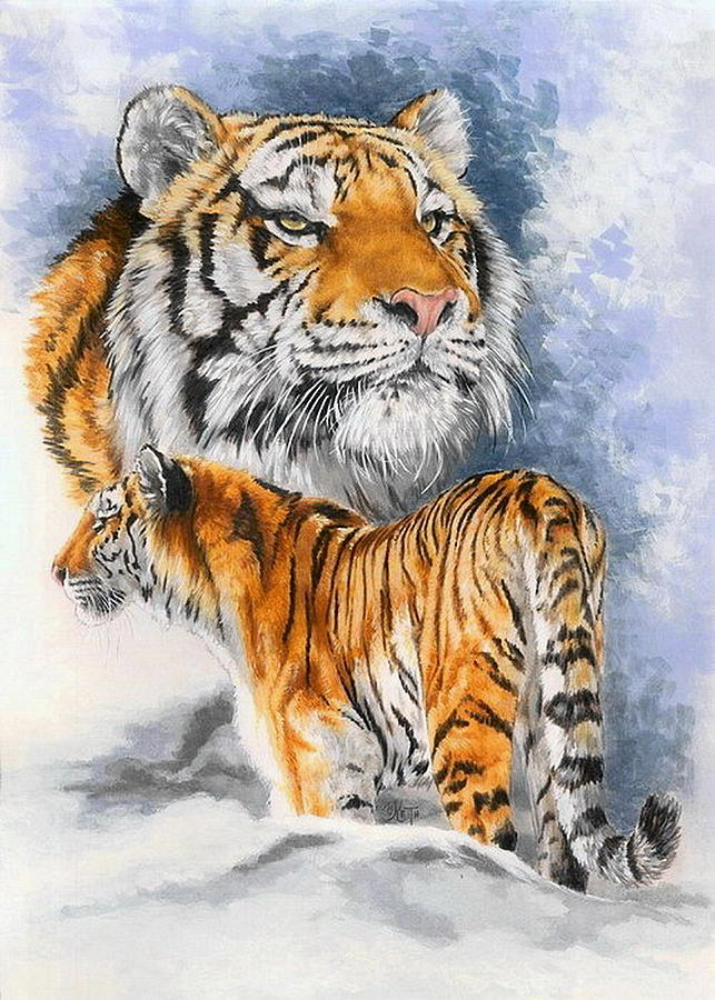 Big Cats Painting - Forceful by Barbara Keith