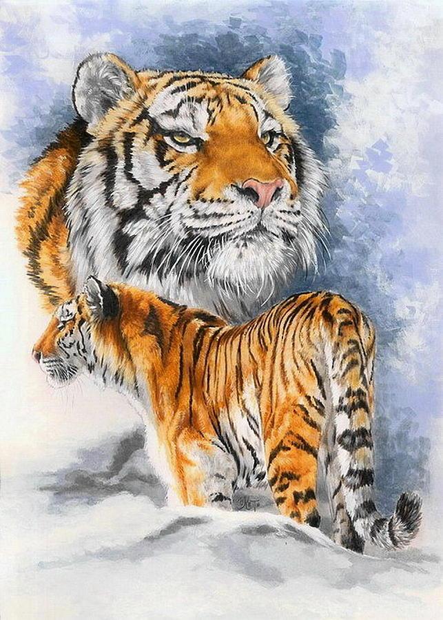 Big Cats Mixed Media - Forceful by Barbara Keith