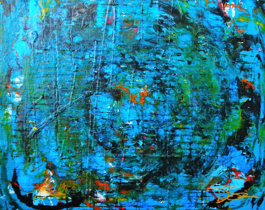 Metallic Blue Painting - Forces Of The World by Dane Newton