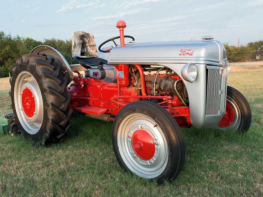 9n Ford Tractor >> Ford 9n Tractor Sunset By Rospotte Photography