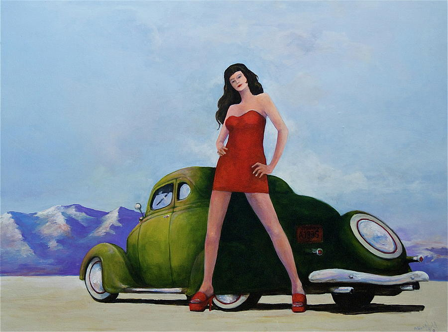 Pinup Painting - Ford And Chick by Peter Wedel
