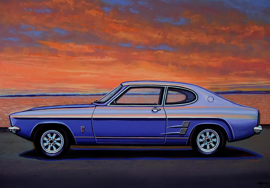 Ford Capri Painting - Ford Capri 1969 Painting by Paul Meijering