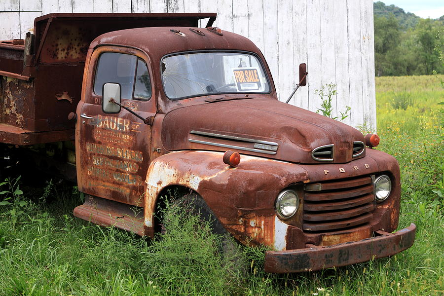 Truck Photograph - Ford F1 by Dennis Morgan