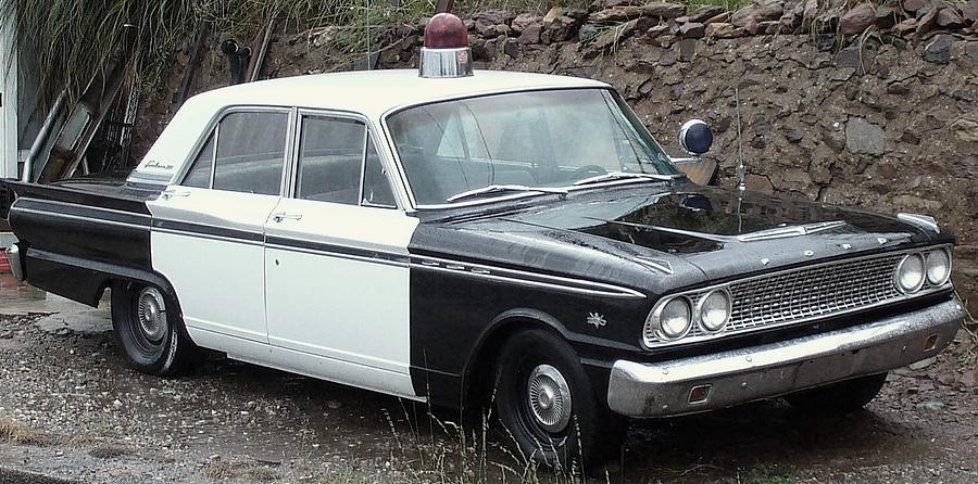Police Car Photograph - Ford Falcon Retired by Brenda Pressnall