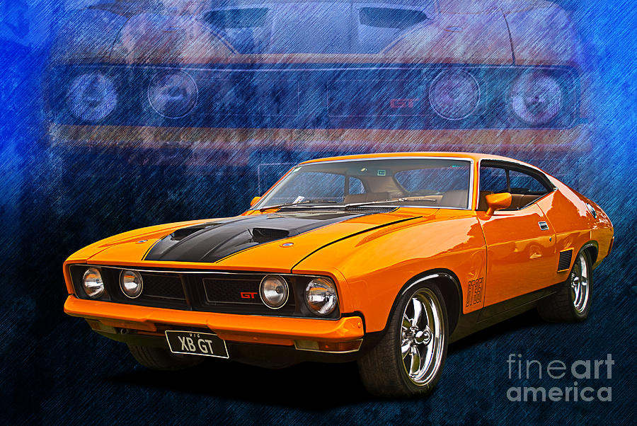 ford falcon xb 351 gt coupe photograph by stuart row. Black Bedroom Furniture Sets. Home Design Ideas